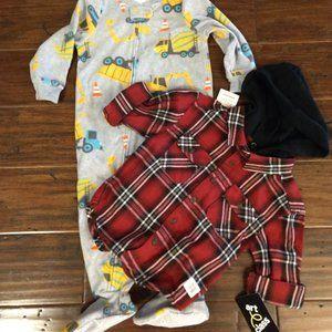 Carter's Baby Boys Bundle Flannel & PJ's 18M